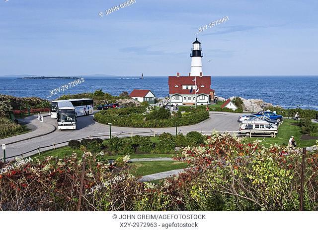 Portland Head Light Station, Cape Elizabeth, Maine, USA