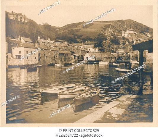 'The Inner Harbour - Polperro', 1927. Artist: Unknown