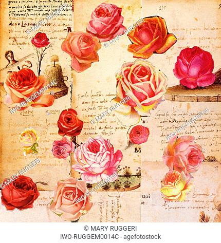 Decoupage Roses