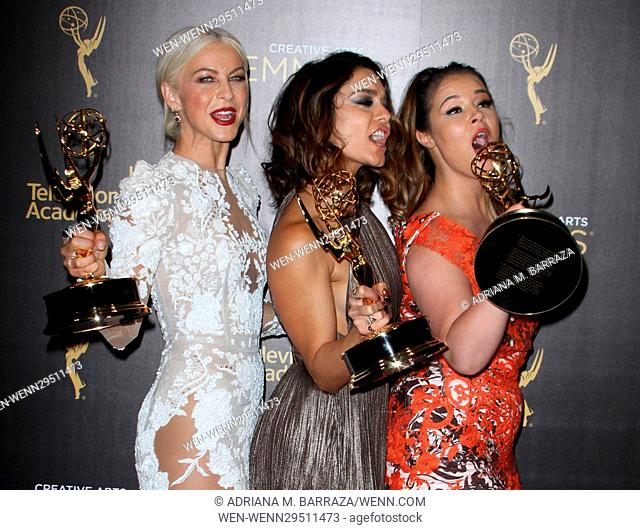 Creative Arts Emmy Awards 2016 Press Room - Day 2 held at the Microsoft Theatre Featuring: Julianne Hough, Vanessa Hudgens, Kether Donohue Where: Los Angeles