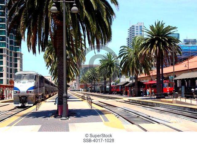 Passenger Trains near Union Station, San Diego