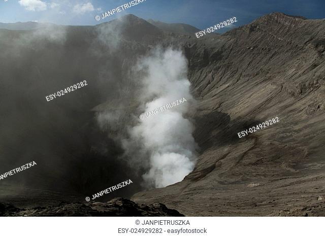 Crater of volcano Ijen, Java, Indonesia