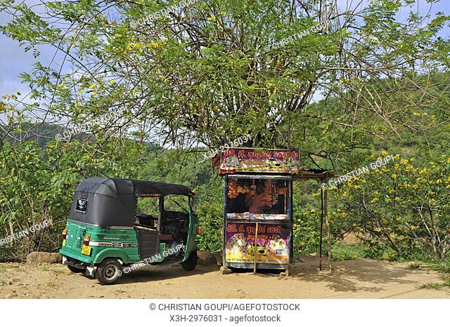 lottery kiosq on the side of the road, Badulla district, Sri Lanka, Indian subcontinent, South Asia