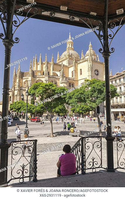 Cathedral and Mayor square - Plaza Mayor-, Segovia, Spain
