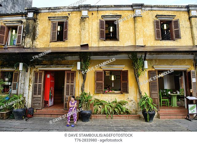 Architecture in the picturesque old town of Hoi An, Vietnam