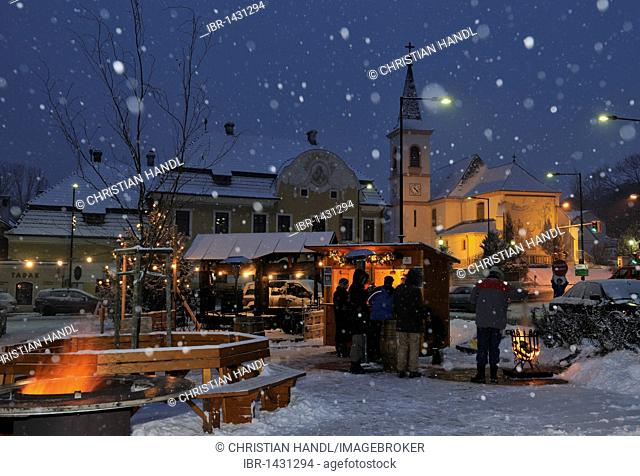 Christmas celebration in St. Veit, Berndorf, Triestingtal, Lower Austria, Austria, Europe