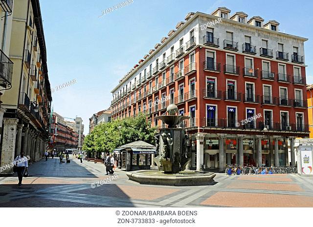 pedestrian zone, Valladolid, Castile and Leon, Spain, Europe, Fussgaengerzone, Valladolid, Castilla y Leon, Kastilien-Leon, Spanien, Europa