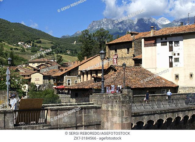 Village of Potes, Cantabria, Spain, Europe. One of the stops of the Transcantabrico Gran Lujo luxury train