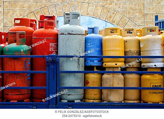 Truck gas cylinders, Ireland, Europe