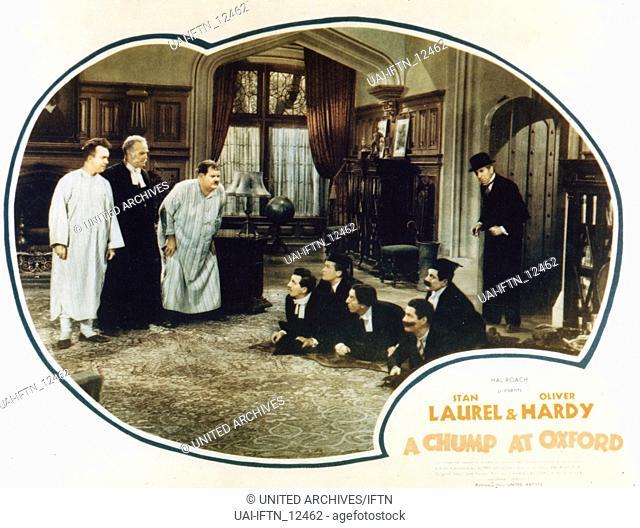 A Chump At Oxford, aka: Laurel & Hardy - In Oxford, USA 1940, Regie: Alfred J. Goulding, Darsteller: Stan Laurel, Wilfrid Lucas, Oliver Hardy
