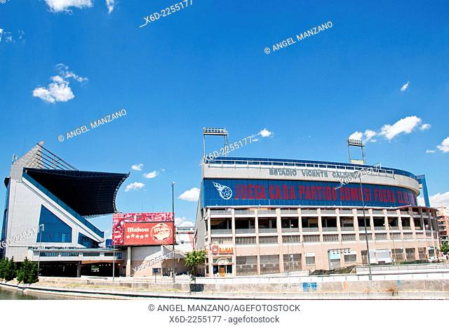 Estadio Vicente Calderon football stadium used by Atletico Madrid in Arganzuela district, Madrid