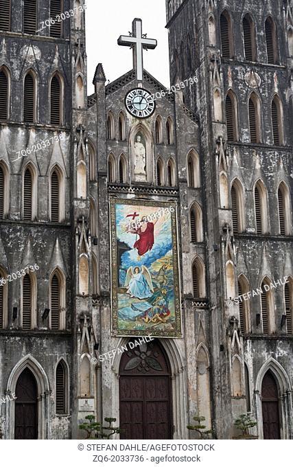 The St. Josephs Cathedral in Hanoi, Vietnam