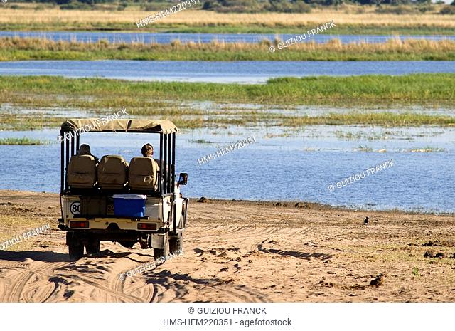 Botswana, district North-west, Chobe National Park, Chobe rivire, safari