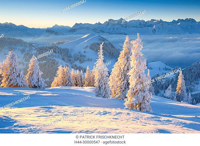Aussicht von der Rigi, Schweiz