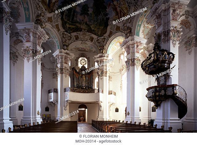 Steinhausen, St. Peter und Paul/Innenraum nach Westen