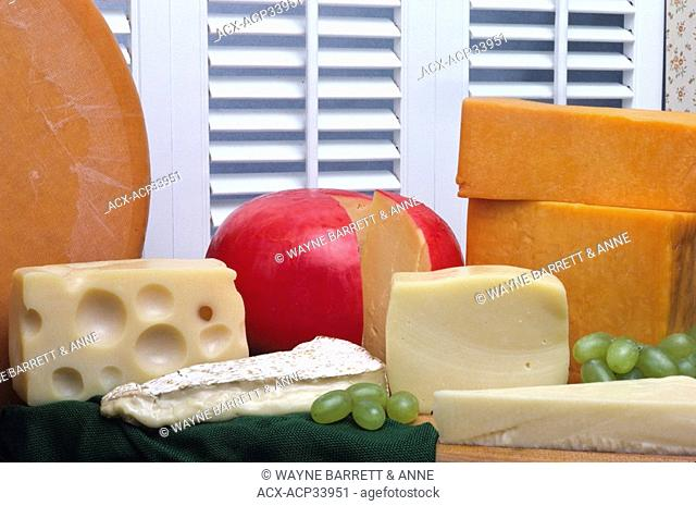 A selection of cheese