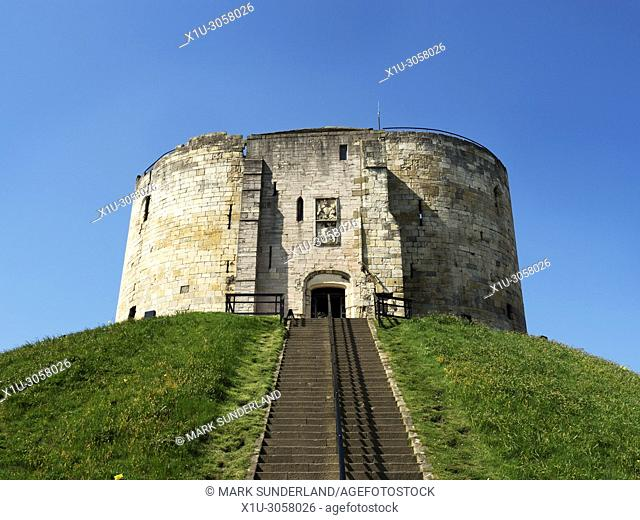 Cliffords Tower13th century castle keep formerly used as a prison and royal mint York Yorkshire England