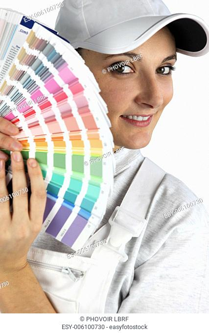 Decorator with color swatches