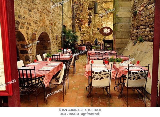A La Bonne Franquette Restaurant, Saint-Antonin-Noble-Val, Tarn-et-Garonne Department, Midi-Pyrenees, France