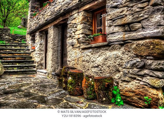 Rustic house in stone