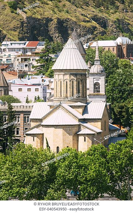 Tbilisi Sioni Cathedral, Georgia. Cathedral of Saint Mary of Zion. The Tbilisi Sioni Cathedral is situated in historic Sionis Kucha - Sioni Street in downtown...