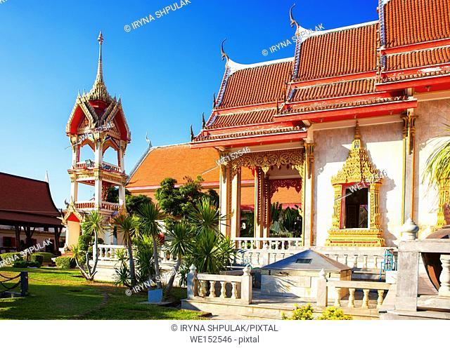 Wat Chalong Temple, Island Phuket, Thailand
