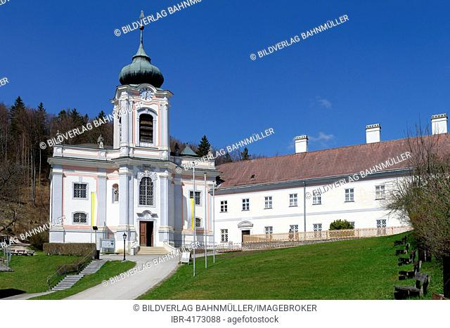 Pilgrimage church and Servite monastery on the Maria Hilf hill, Gutenstein, Pistingtal, Lower Austria, Austria