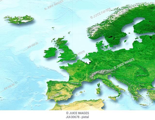 Belgium, flag, map, Western Europe, physical