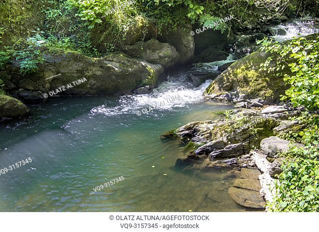 Aratz Erreka river, Zurrunbillue, Urrestilla, Gipuzkoa, Basque Country