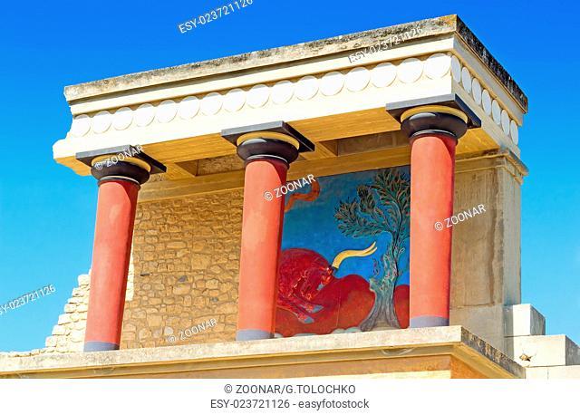 Knossos Palace of king Minos, Crete, Greece