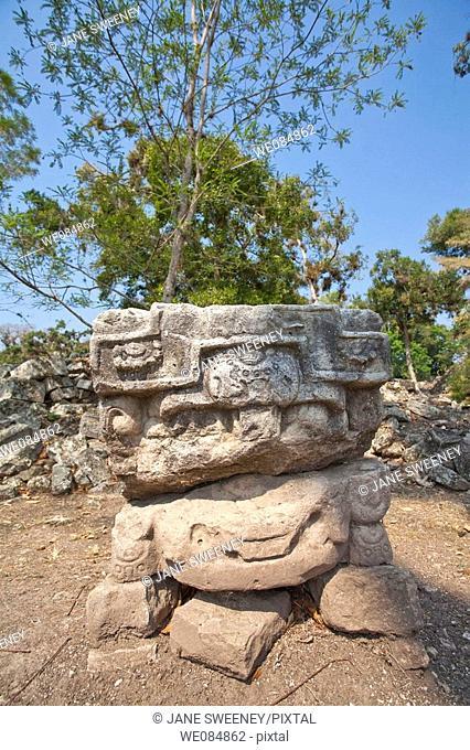 Altar, West Court, Mayan ruins of Copan, Honduras
