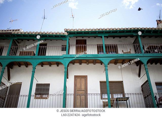 Houses in Chinchón, Comunidad de Madrid, Spain