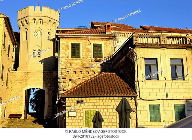 Entrance to Stari Grad from Nikole Durkovica square, Herceg Novi, Montenegro