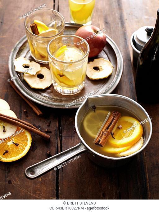Glasses of mulled cider