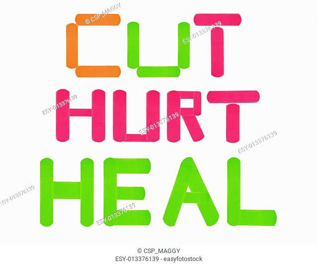 cut-hurt-heal band-aids
