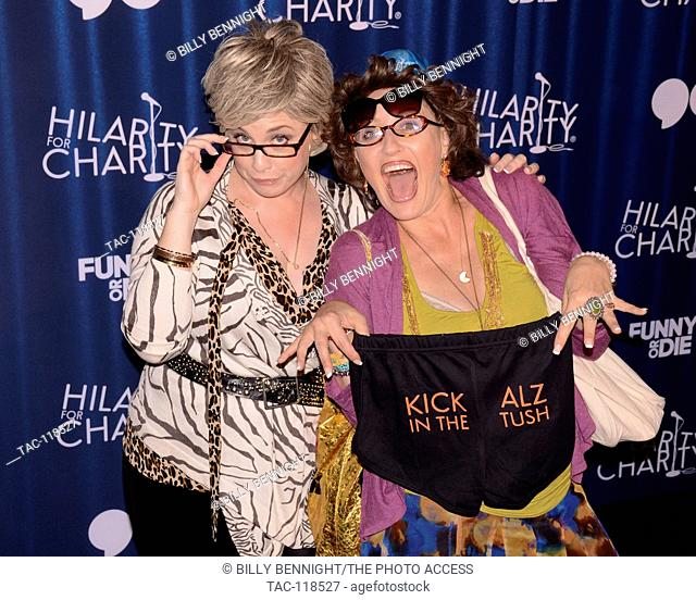 Ronna Glickman and Beverly Kahn attends 4th Annual Hilarity For Charity Variety Show: James Franco's Bar Mitzvah benifiting the Alzeimer's Association presented...