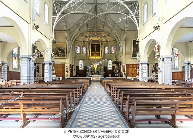 St. Louis Cathedral interior, Port Louis, Mauritius, Africa
