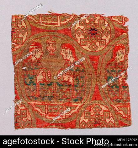 Textile Fragment. Object Name: Fragment; Date: 13th century; Geography: Attributed to Spain; Medium: Silk, gilt animal substrate around a silk core; lampas;...