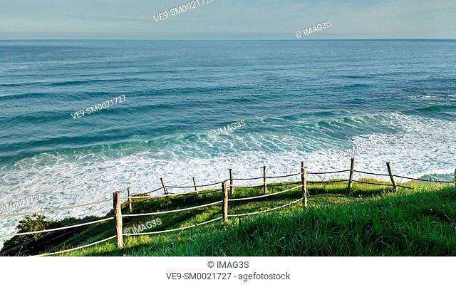 Vidiago beach and cliffs. Llanes municipality. Asturias, Spain