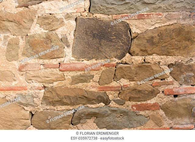 close up of beige stone wall texture background surface
