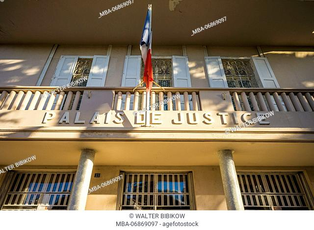 French West Indies, St-Martin, Marigot, Palais de Justice, exterior
