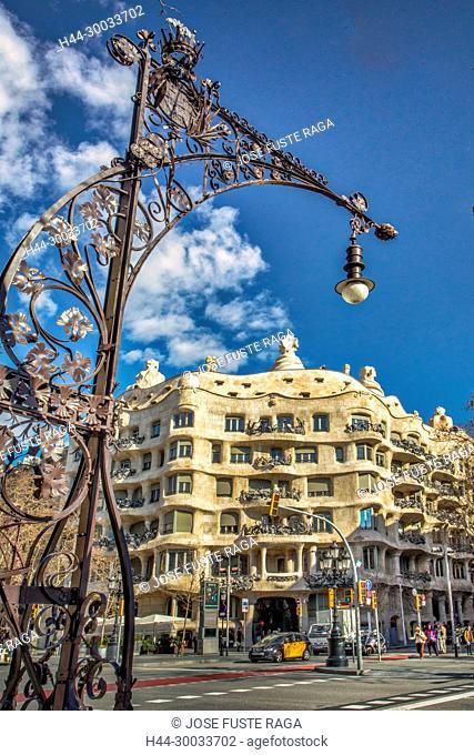 Barcelona City, Gaudi architect, Mila House (La Pedrera), spain