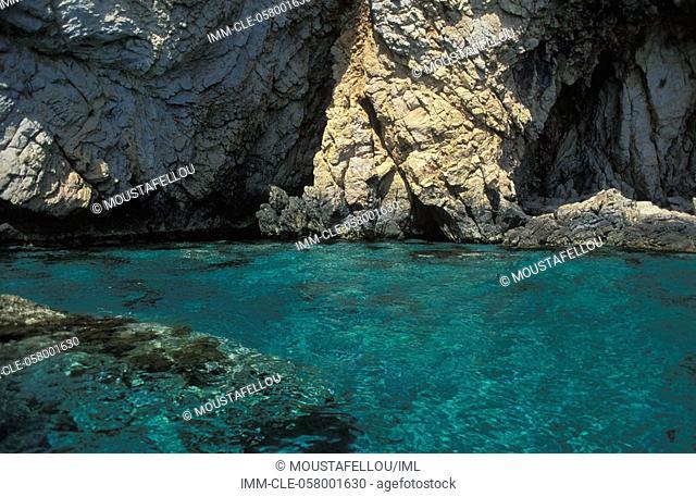 Caves, Tilos, Dodecanese, Greece