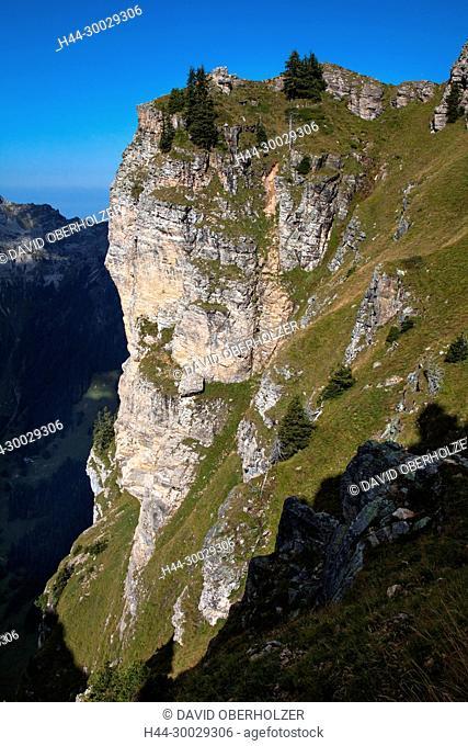 The Alps, mountains, the Bernese Oberland, autumn, sceneries, Niederhorn, Switzerland