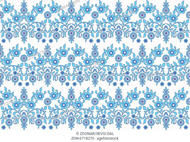 seamless background pattern designed by the Ottoman Empire