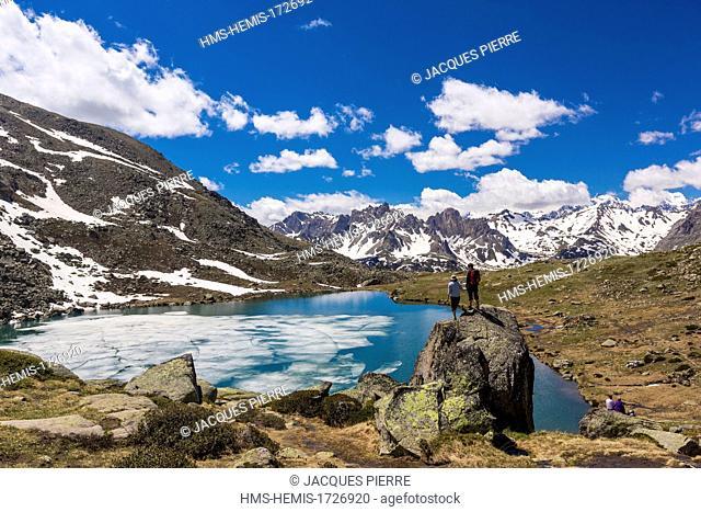 France, Hautes-Alpes, Névache, Clarée valley, the lake of the Serpent