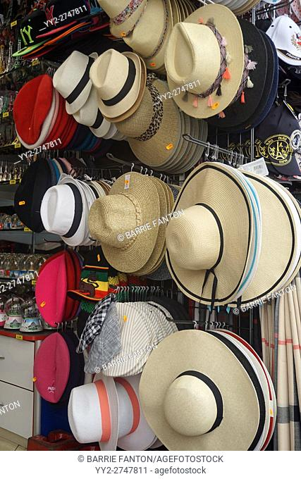 Hat Display at Souvenir Stand, Montmartre, Paris, France