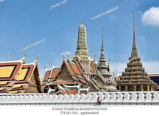Wat Phra Kaew and the Grand Palace in Bangkok, Thailand
