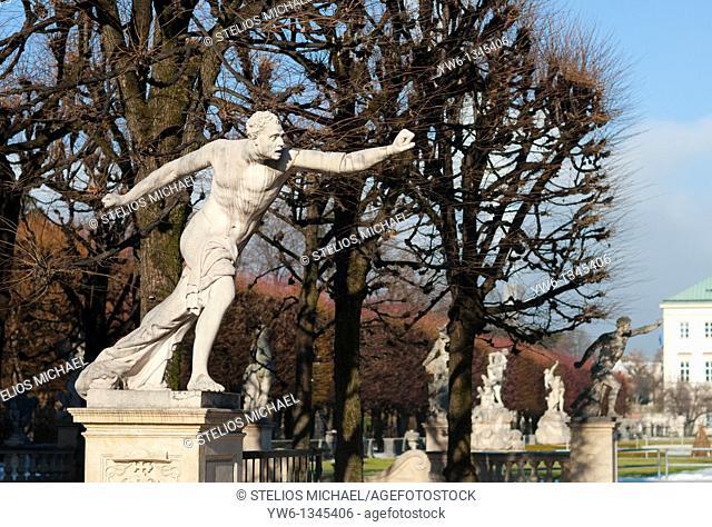 Statues at Mirabell Gardens in Salzburg,Austria