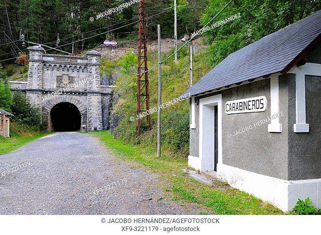 Somport tunnel. Pirineos mountains. Canfranc. Huesca province. Aragón. Spain
